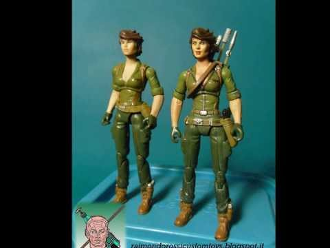 CUSTOM ACTION FIGURE GIJOE LADY JAYE EDWIGE FENECH  - LIKENESS IN 1:18 SCALE