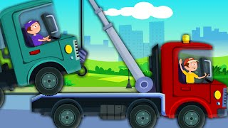 getlinkyoutube.com-Tow Truck Song | Vehicles Song | Car Rhymes For Kids And Childrens