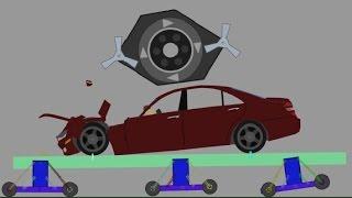 getlinkyoutube.com-Phun Algodoo Car Destruction #7