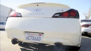 getlinkyoutube.com-Infiniti G37 Coupe GTM Supercharger with ARK GRIP Burnt Tip Exhaust