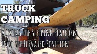 getlinkyoutube.com-Truck Camping 101 Elevated Sleeping Platform - Transformer Style