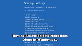 getlinkyoutube.com-How to Enable F8 Safe Mode Boot Menu in Windows 10