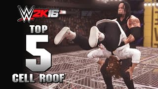 getlinkyoutube.com-WWE 2K16 : Top 5 Holy Cow Cell Roof Moments