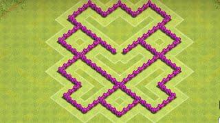 getlinkyoutube.com-Clash of Clans - Town Hall 6 (TH6) Trophy/War Base