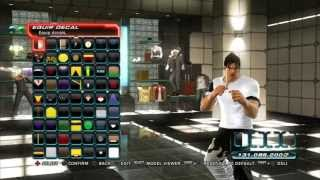 getlinkyoutube.com-Tekken Tag Tournament 2 -  Decal Customization - Jin Tekken 4 White/Black Gi