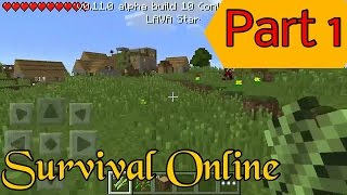 getlinkyoutube.com-Minecraft PE Survival Online | ยึดหมู่บ้าน!! Part 1
