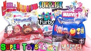 getlinkyoutube.com-Masha and the Bear,Furby,My Little Pony,Marvel, new 2015  toys surprises Kinder Surprise