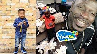 Shatta Wale's son Majesty shower money on his birthday