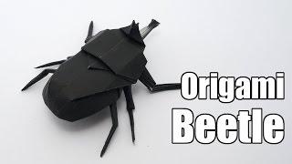 getlinkyoutube.com-Origami Beetle (Jo Nakashima)