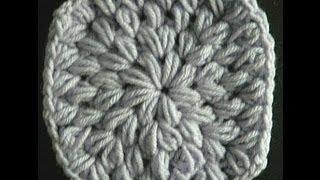 getlinkyoutube.com-Easy Crochet Puff Stitch Granny Square