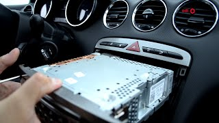 getlinkyoutube.com-Peugeot 308 - Audio unit removal and refitting