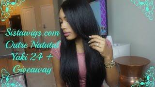 getlinkyoutube.com-Cheap Straight Wig For Beginners: Sistawig Outre Natural Yaki 24