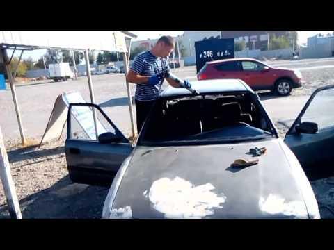 Установка стекла на Toyota Carina