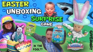 getlinkyoutube.com-EASTER SKYLANDERS POOL SURPRISE GAME!  The Bunny Is Back w/ SuperChargers in the Pool?!?!