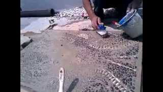 getlinkyoutube.com-Cara membuat batu sikat untuk di dinding, Contoh motif Pa'Tedong TORAJA