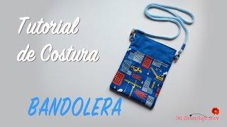 getlinkyoutube.com-Tutorial #44 - Como hacer una Bolsita Bandolera - How to make a bag