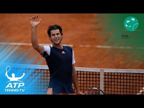 Brilliant Dominic Thiem shots in win vs Rafa Nadal | Rome 2017 Quarter-Finals