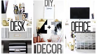 DIY Desk + Office Decor   Anthropologie + Kate Spade Inspired