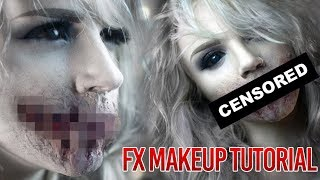 getlinkyoutube.com-Speak No Evil - Zombie Mouth Special FX Makeup Tutorial