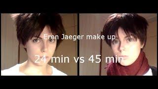 getlinkyoutube.com-Eren Jaeger make up: 24 min vs 45 min