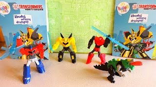 getlinkyoutube.com-2015 Transformers: Robots in Disguise Toys Complete Set in Happy Meal McDonalds Europe