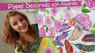 getlinkyoutube.com-Cómo hacer papel Decorado para Crafting :: Chuladas Creativas