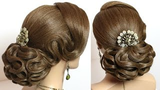 getlinkyoutube.com-Hairstyles for long hair tutorial. Elegant wedding updo.