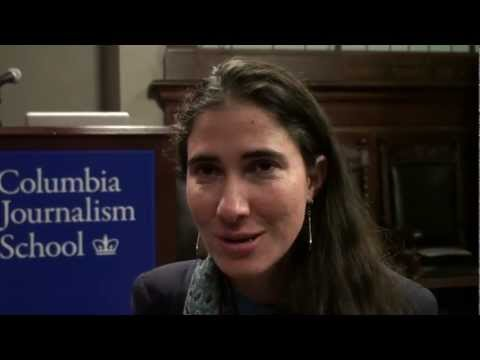 Cuban blogger Yoani Snchez at Columbia Journalism School in New York
