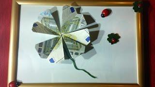 getlinkyoutube.com-Kleeblatt falten - Geld falten - Geldgeschenk - Origami Geschenke