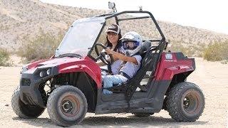 getlinkyoutube.com-Riding the Mini RZR 170 Clone- Avenger 150cc- Blades 150cc in the desert