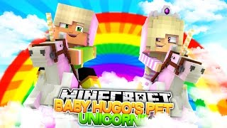 BABY HUGO STEALS A UNICORN FROM RAINBOW LAND!! Little Donny Minecraft Roleplay.