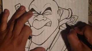 getlinkyoutube.com-Drawing graffiti character with spraycans by wizard