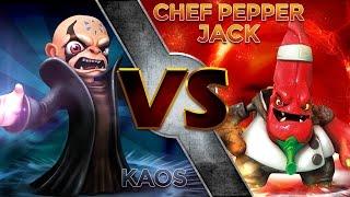 getlinkyoutube.com-Skylanders Trap Team - Kaos Vs Chef Pepper Jack