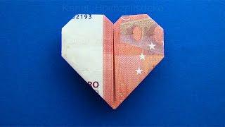 getlinkyoutube.com-Geldschein falten Herz: Herz falten mit Geld zum Geldgeschenke basteln zur Hochzeit - DIY