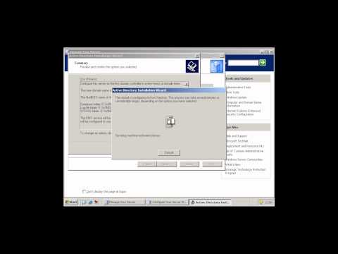 Windows Server 2003 - Adding a domain - 1