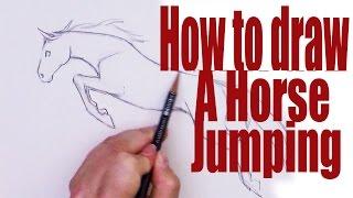 getlinkyoutube.com-How to draw a horse jumping
