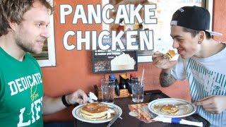 getlinkyoutube.com-Pancake Chicken w/ Sam Pepper | Furious Pete