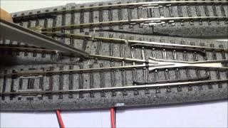 getlinkyoutube.com-How To Make An N Scale Kato #6 Single Cross Over