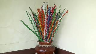 Cara Membuat Bunga Kembang Mayang dari Kertas Minyak atau Layang-layang