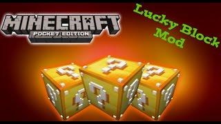 """getlinkyoutube.com-Mod """"Lucky Blocks"""" -- Minecraft PE 0.13.0 -- Descarga!!!"""