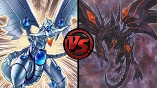 getlinkyoutube.com-Dueling Network Blue Eyes Shining Dragons VS Red Eyes Darkness Dragon