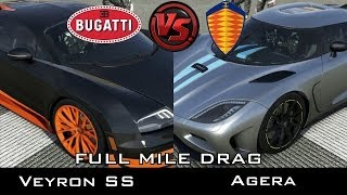 getlinkyoutube.com-Forza 5 - Full Mile Drag - Bugatti Veyron SS vs Koenigsegg Agera