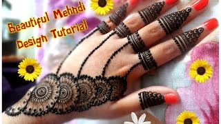 How to apply new latest henna mehndi design for hands for eid,diwali,weddings tutorial 2017