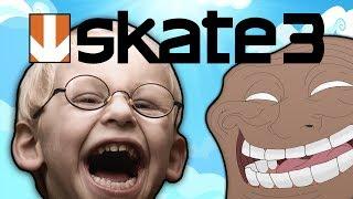 getlinkyoutube.com-Herobrine Trolls Kids in Skate 3! (Skate 3 Trolling #2)