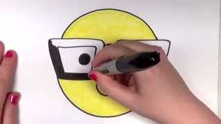 getlinkyoutube.com-How to Draw a Smiley Face with Hipster/Nerd Glasses | CC