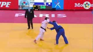 getlinkyoutube.com-Judo Grand Slam Paris 2013: Final -90kg  GONZALEZ, Asley (CUB) -  LIPARTELIANI, Varlam (GEO)