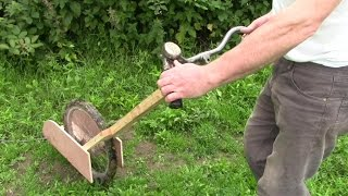 getlinkyoutube.com-Quick Weeding With Homemade Strimmer / Weeder Machine Thingy