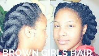 getlinkyoutube.com-2  Jumbo Flat Twists | Natural Hair Kids