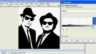 getlinkyoutube.com-How to make Stencils in Gimp