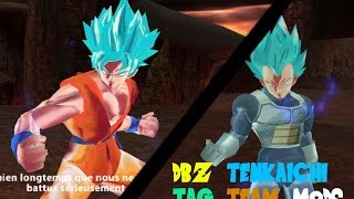 getlinkyoutube.com-DBZ Tenkaichi Tag Team Mods Xenoverse SSGSS Goku VS SSGSS Vegeta
